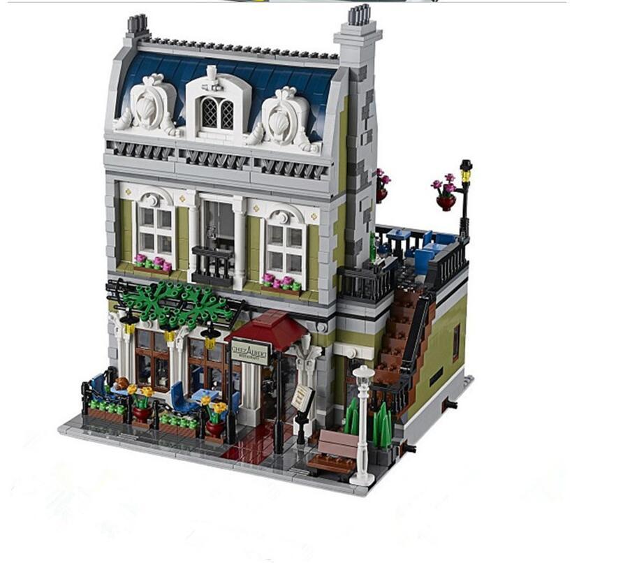 2017 NEW Lepin 15010 Expert City Street Parisian Restaurant Model Building Kits Blocks Funny Children Toys Compatible 10243 new grub street