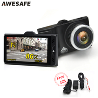 AWESAFE Ambarella A7LA50 Car DVRs GPS Camera 2 In 1 LDWS Speedcam Full HD 1296P Video