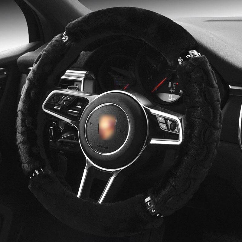 TENGRUI Car Steering Wheel Cover for daewoo/daewoo nexia/lanos All Model Braid On The Handlebar 38 cm direksiyon seti araba jant