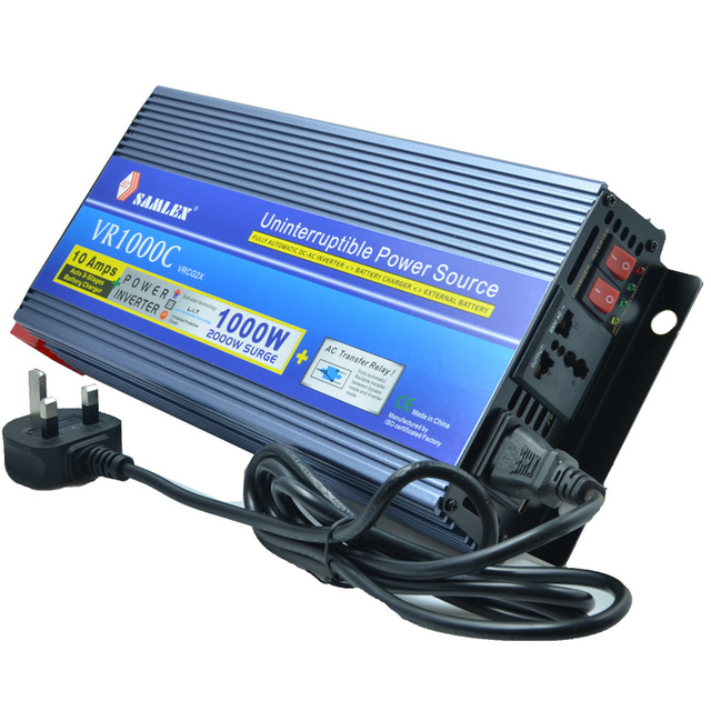2016 multifunction power inverter 1000W surge 2000W 12v 220v inverter +UPS function+12V Battery Charger , universal socket
