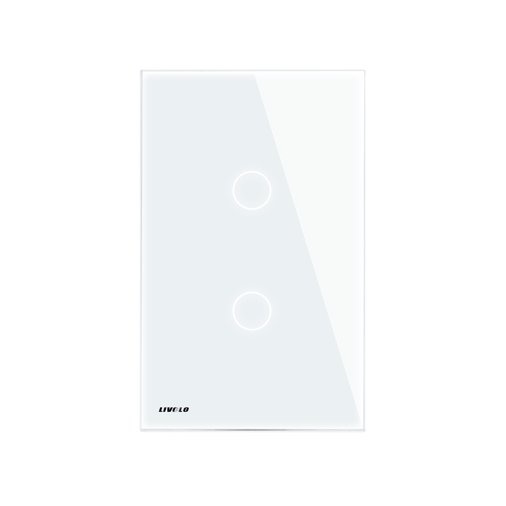 Image 3 - LIVOLO New US/AU standard Wall Touch Screen Light Switch,2 gang 2 way, White /Black Glass Panel,  VL C502S 11/12-in Switches from Lights & Lighting