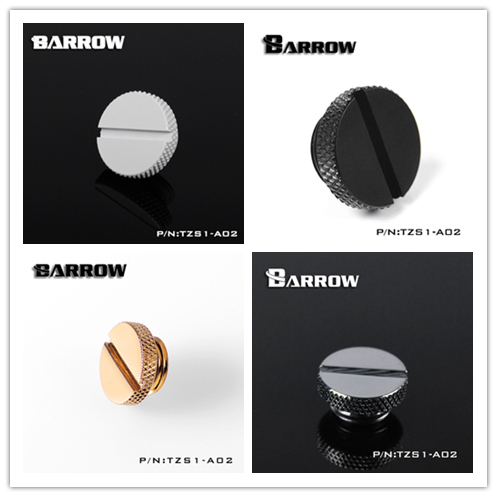 """Barrow White Black Silver gold G1/4"""" hand tighten water cooling stop sealing up plug computer case fittings TZS1-A02"""