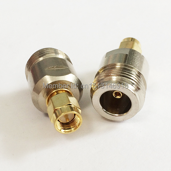 1PC  N Female Jack  to  SMA  Male Plug  RF Coax Adapter convertor  Straight  Nickelplated  NEW wholesale 1pc adapter n plug male nickel plating to sma female gold plating jack rf connector straight