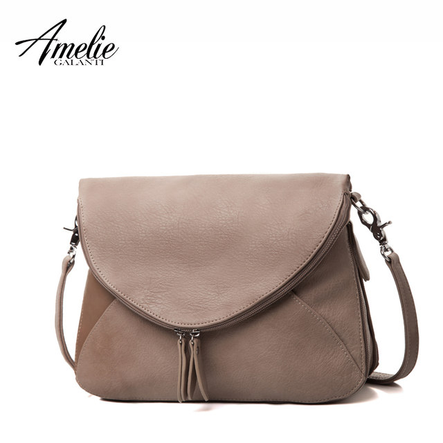 AMELIE GALANTI Handbags for women medium crossbody purse and summer handbag  casual zipper over shoulder purse soft cdfb5a6754140