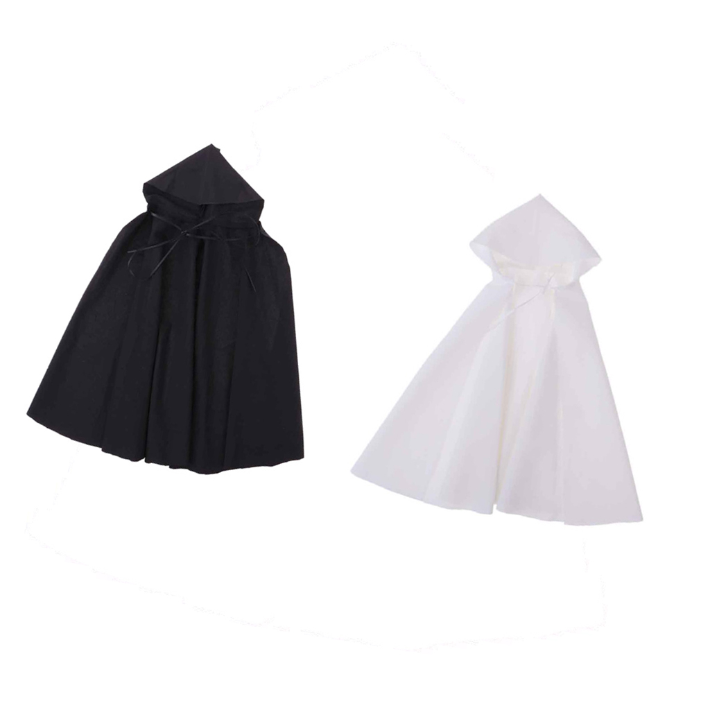 """1//6 Scale Black Soldier Hooded CLoak Cape for 12/"""" Action Figure"""