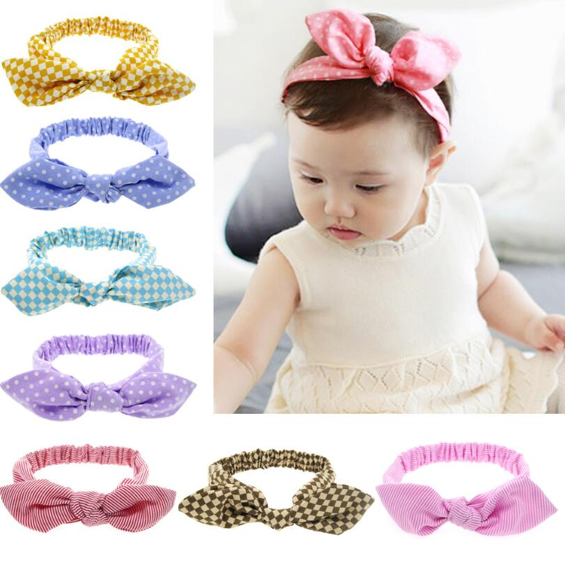 1 Piece MAYA STEPAN Headwrap Bunny Ear Baby Headbands Girls Hair Bow Knot Hairband Head Band Newborn Toddler Headwear Infant