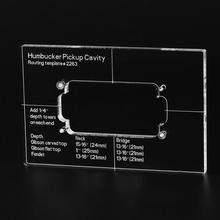 Musiclily Pro CNC Genaue Acryl Humbucker Pickup Routing Vorlage für Elektrische Gitarre Körper