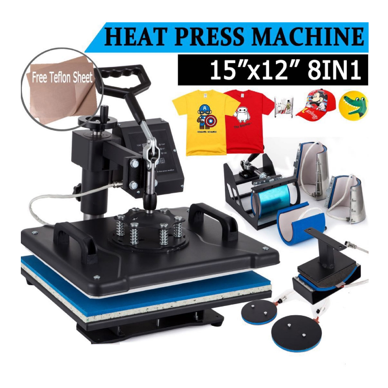 8 In 1 Heat Transfer Machine T-shirt Heat Press Machine Cup Printing Heat Transfer Machine