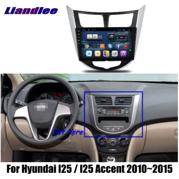 7 Car Android HD Touch Screen Vehicle GPS For Hyundai I25 Accent 2010-2015 Radio Player GPS NAVI Maps TV Multimedia No CD DVD image