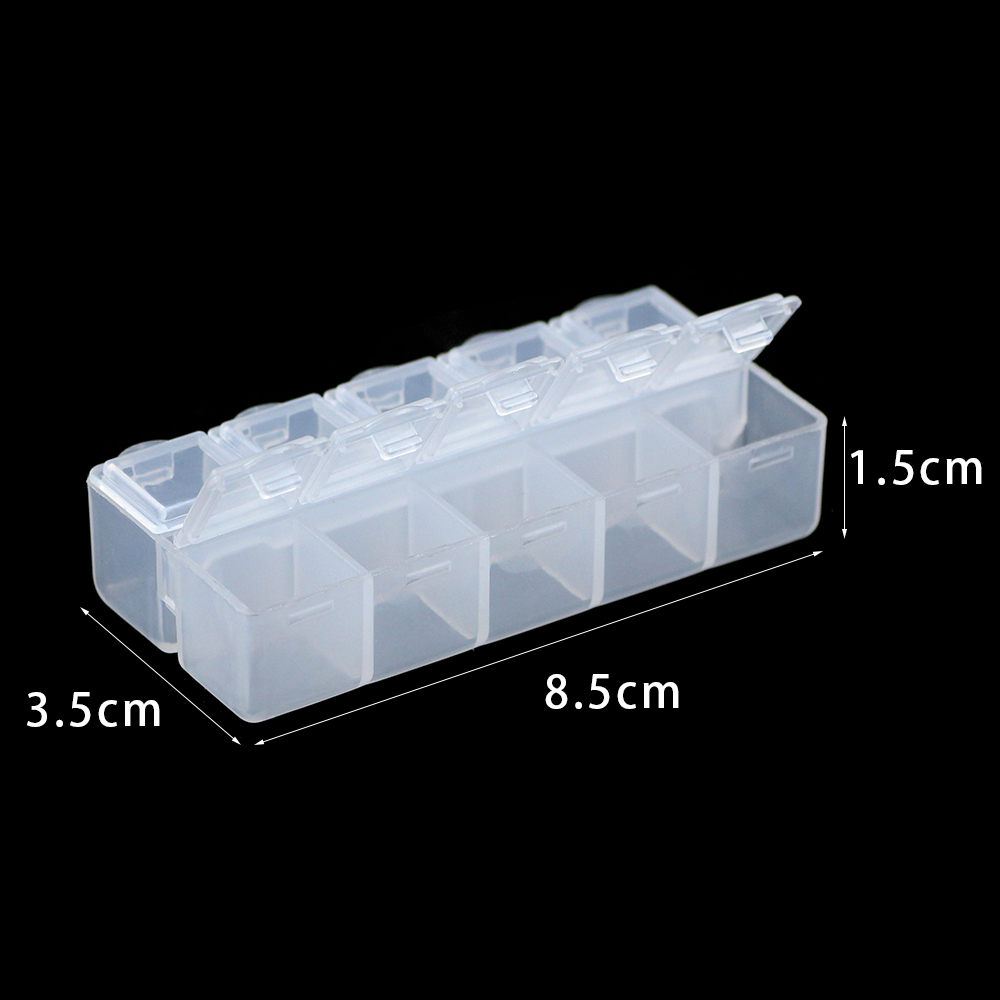 WLYeeS Small Jewelry Box White/Pink Plastic Container Transparent Compartment Storage Case For DIY Jewelry Beads Rectangle Boxes