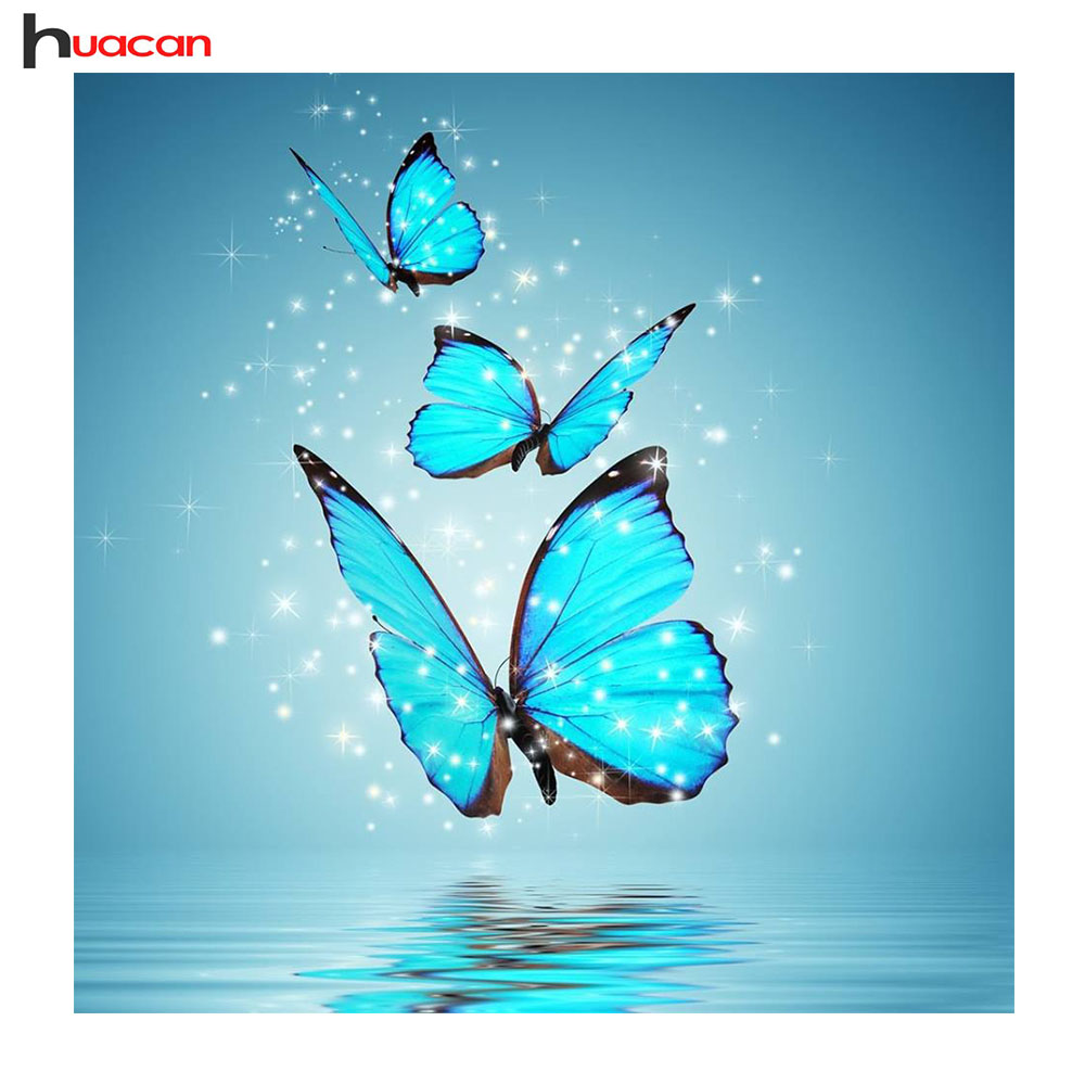 Huacan Animal Needlework 5D Diy Full Square Diamond Painting Cross Stitch Butterfly Diamond Embroidery Mosaic PicturesHuacan Animal Needlework 5D Diy Full Square Diamond Painting Cross Stitch Butterfly Diamond Embroidery Mosaic Pictures