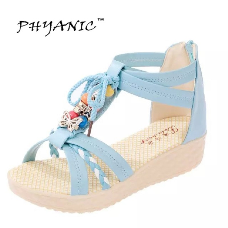 PHYANIC 2017 Summer Sandals Ladies Bohemia Beach Flip Flops Shoes Gladiator Women Shoes Sandles platform Zapatos Mujer Sandalias phyanic 2017 gladiator sandals gold silver shoes woman summer platform wedges glitters creepers casual women shoes phy3323