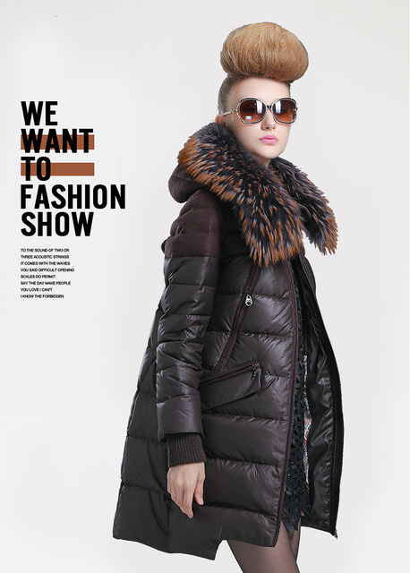 European Winter Jacket Women Winter Down Jackets and Coats with ...