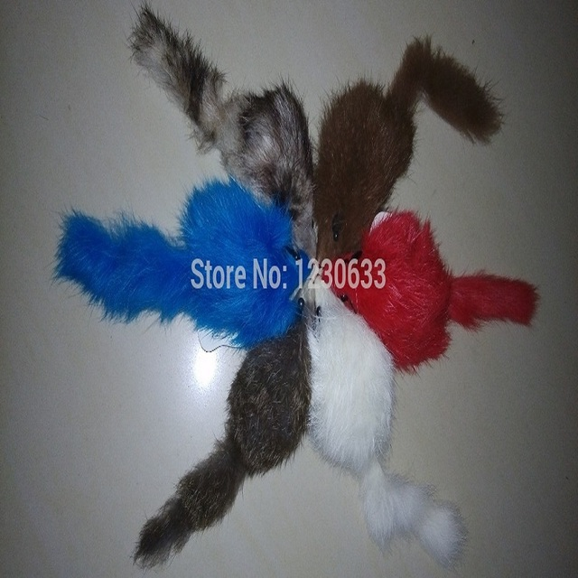 Westrice Pet Toy Cat Toy Big Rabbit Fur Mouse Long Fur for Cat 6CM A Variety of Colors 28pcs/lot Free Shipping