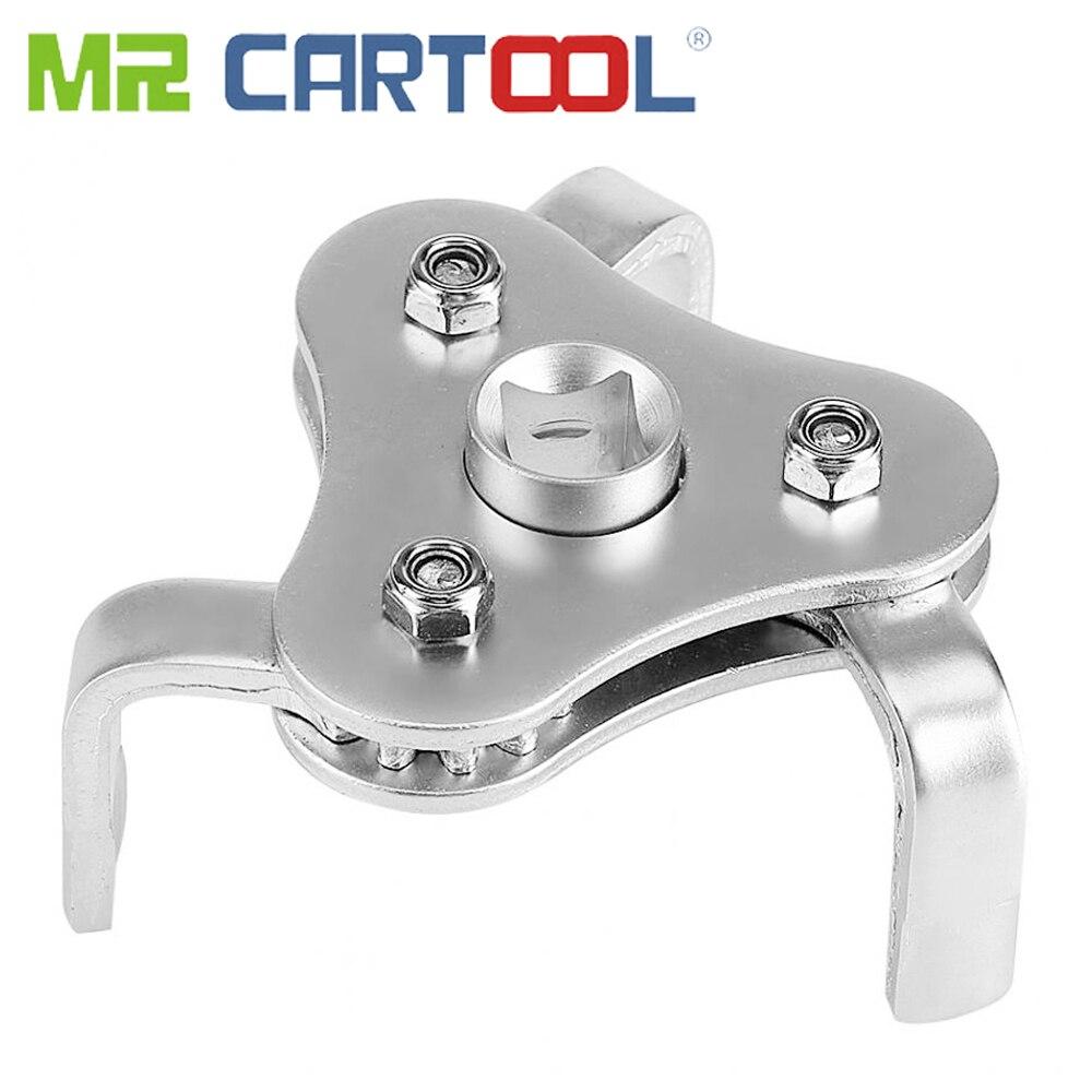 Mr Cartool調整可能な3ジョーオイルフィルターレンチ自動オートバイ車エンジン修理ツールユニバーサルオイルフィルターレンチ