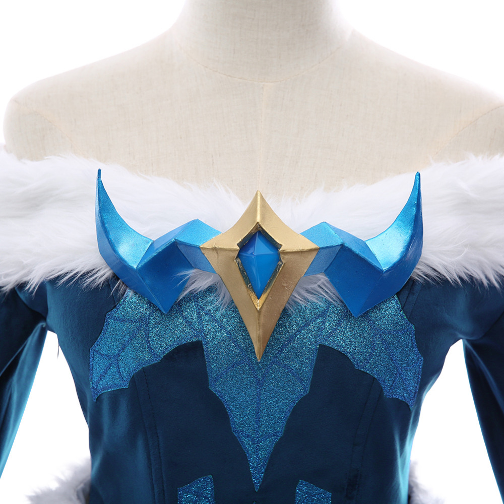 Game Lol Snowday Winter Wonder Soraka Cosplay Wig The Starchild Soraka Wig Halloween Carnival Wigs For Fast Shipping Costume Props