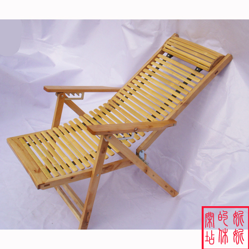 Cheap Natural Bamboo Lounge Chairs Folding Chairs Cool Summer Siesta Lounge  Chair Armrest Wooden Frame
