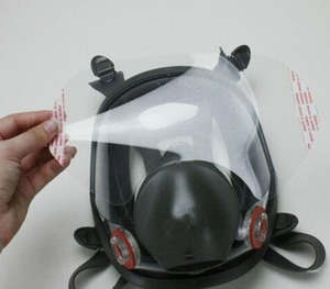 Image 1 - 5/10/15/25 pcs/pack Gas Mask Protective film 6885 RESPIRATOR LENS COVER USE For 3 M 6800 Dust Mask