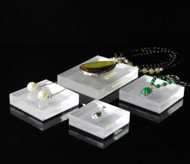 Acrylic Jewelry Display Holder  Ornaments Ring Necklace Earrings Square column
