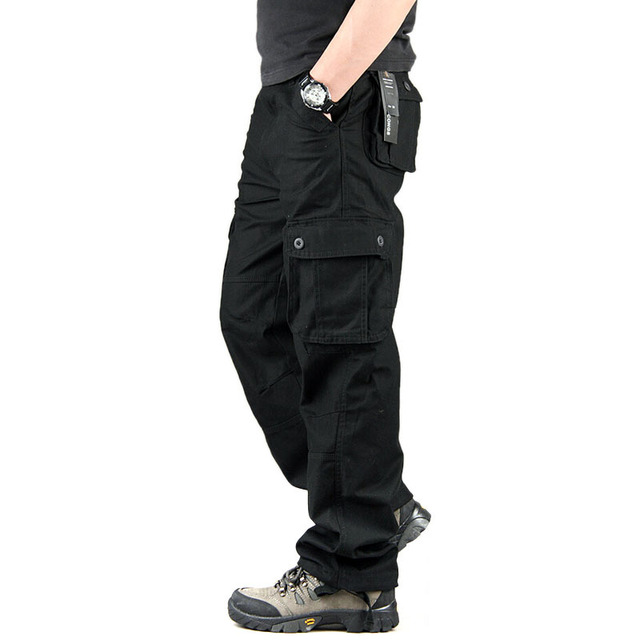 96119e76728b Men s Cargo Pants Casual Mens Pant Multi Pocket Military Overall Men  Outdoors High Quality Long Trousers 30-44 Plus size