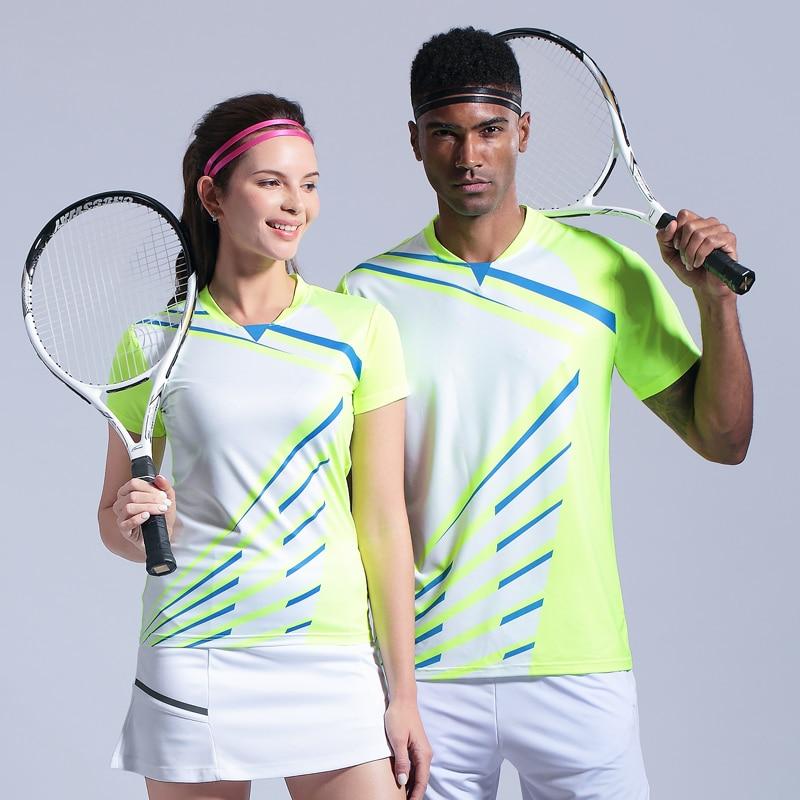 2019 Männer Frauen Badminton T-shirts Tischtennis Trikots Atmungs Tennis Kleidung Sport Sportlich T-shirt Schnell Trocknend Shirts Schrumpffrei