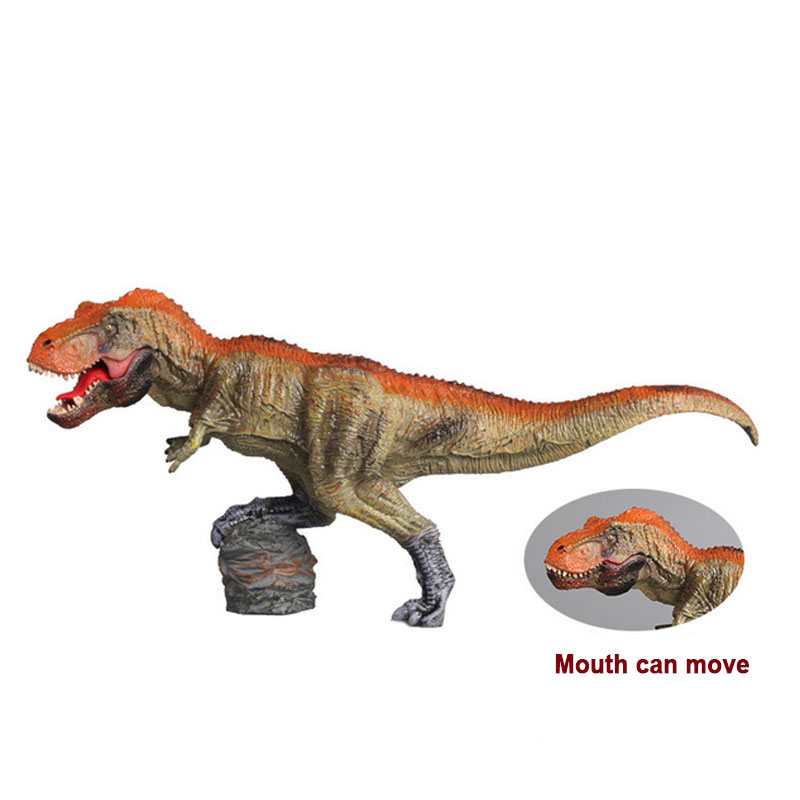 ZXZ Large Tyrannosaurus Rex Dinosaur Model Solid PVC Plastic Action Figure Toys Movable Collectible Model Children's Gifts Toy bwl 01 tyrannosaurus dinosaur skeleton model excavation archaeology toy kit white