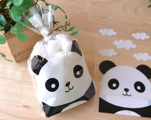 Super cute panda gift package bag candy dessert bags jewelry gift packing plastic bag favors supply(China (Mainland))
