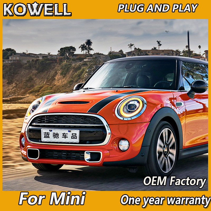 Image 2 - KOWELL Car Styling For Mini F55 F56 cooper led headlights For F57 All LED head lamp Angel eye led DRL+turn signal front light-in Car Light Assembly from Automobiles & Motorcycles