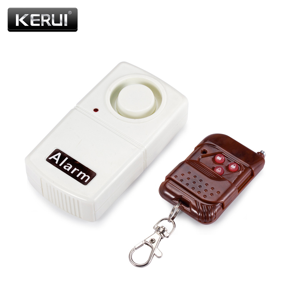 Mini Anti-Theft Vibration Shock Detector Sensor Alarm Wireless Alarm System 120dB+Remote Control for Door Window Car wireless door window vibration detector shock sensor for home alarm system