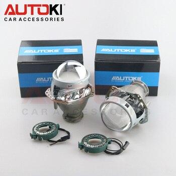 Autoki 2 uds 3,0 pulgadas Bi Xenon Hella G5 lente de proyector de faro de aluminio para coche Hid faro modificado D2S Reflector Hi/lo Beam