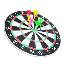 6 Darts & Darts Board Set 12/15/17 Zoll Familie/Büro Spiel Dartscheibe Sport Übung Darts Spiel