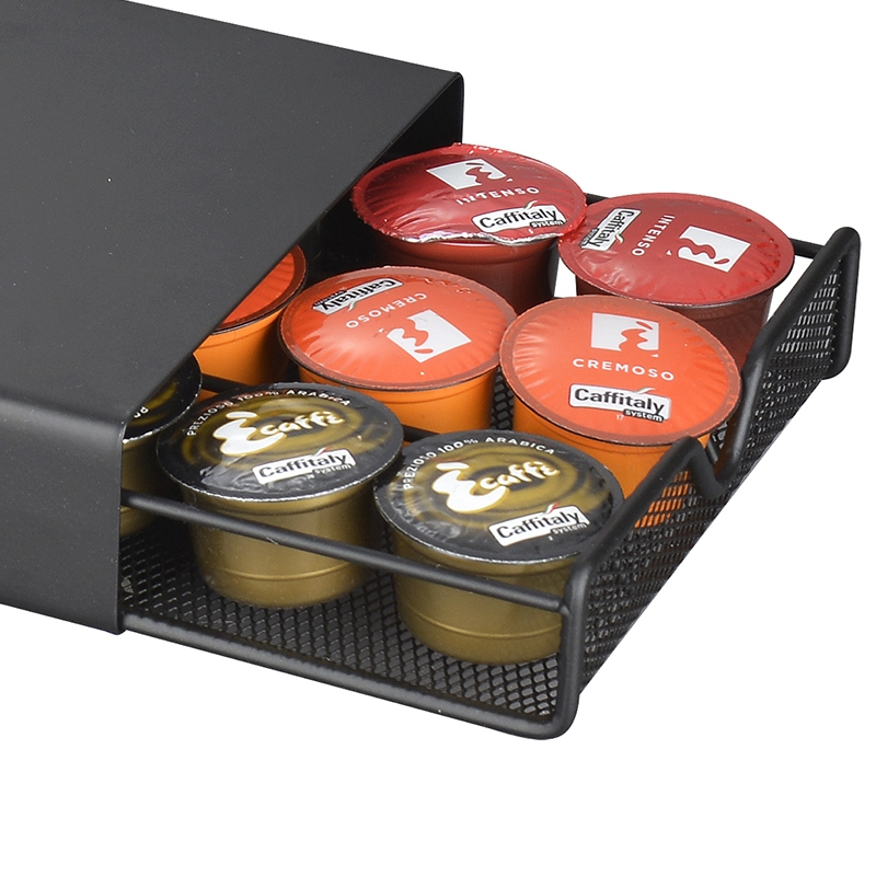 Durable Coffee Stand Rack Drawers Capsule Organizer Coffee Capsule Holder Dolce Gusto/Lavazza/Nespresso Coffee Capsules Shelve