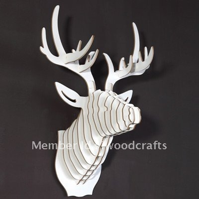 aliexpress dhl free shipping white wooden deer head