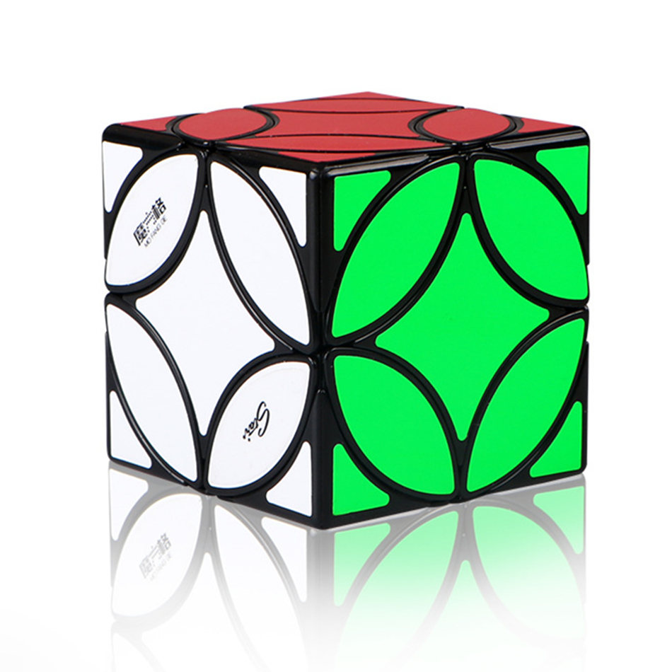 QiYi Copper Coin Magic Cube Strange Shape Ancient Coin Magic Cube Funny Speed Cube Puzzle Educational Toy For Children