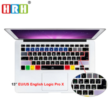 For A1278 Logic Pro X Functional Shortcut Hotkey Silicone Keyboard Cover Keypad Skin for All Macbook Air 13 Pro Retina 13 15 17  50pcs lot flowers design silicone us keyboard cover keypad skin protector for apple mac macbook pro 13 15 17 air 13 retina 13
