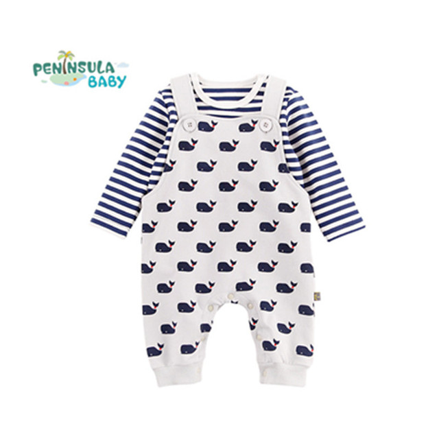 877317a93 Autumn Spring Cotton Baby Rompers Newborn Girl Clothes Set 2Pcs Long ...