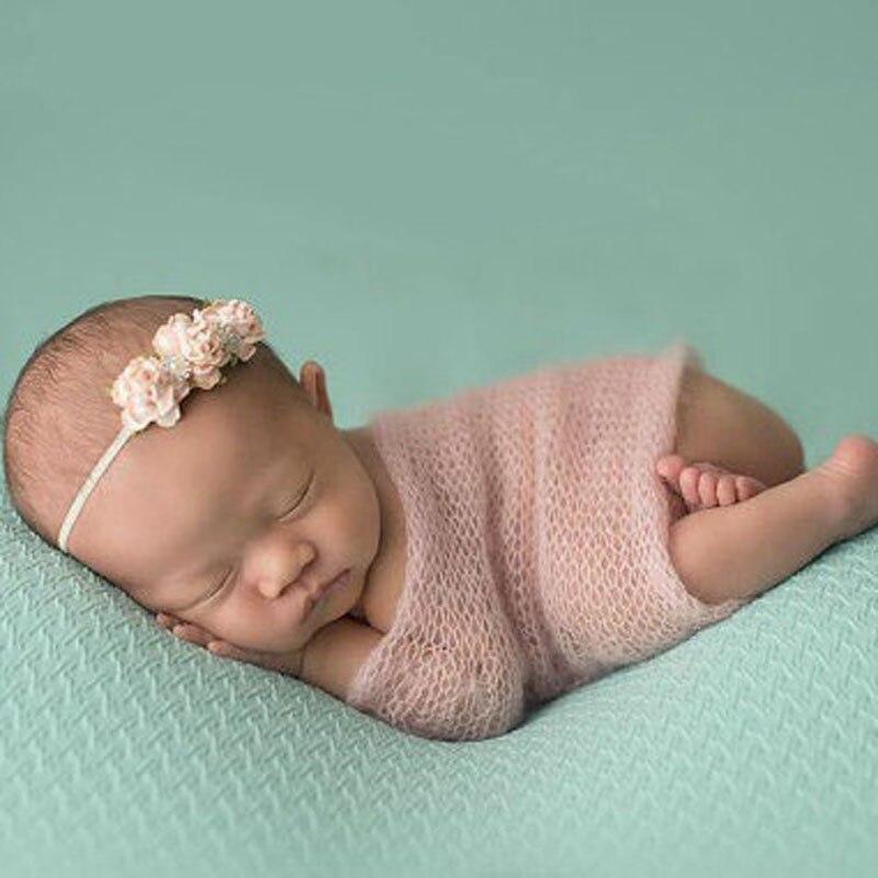 Baby Faux Fur Blanket Basket soft Stuffer infant Photography Props Background Newborn baby Blanket 40*60cm