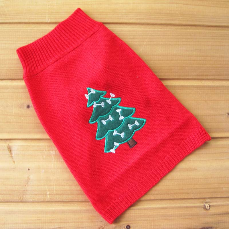Wonderful Pet Christmas Clothes Crochet Dog Sweater Winter Knitwear Outerwear Apparel Clothing for Cats & Dogs Chihuahua Poodle
