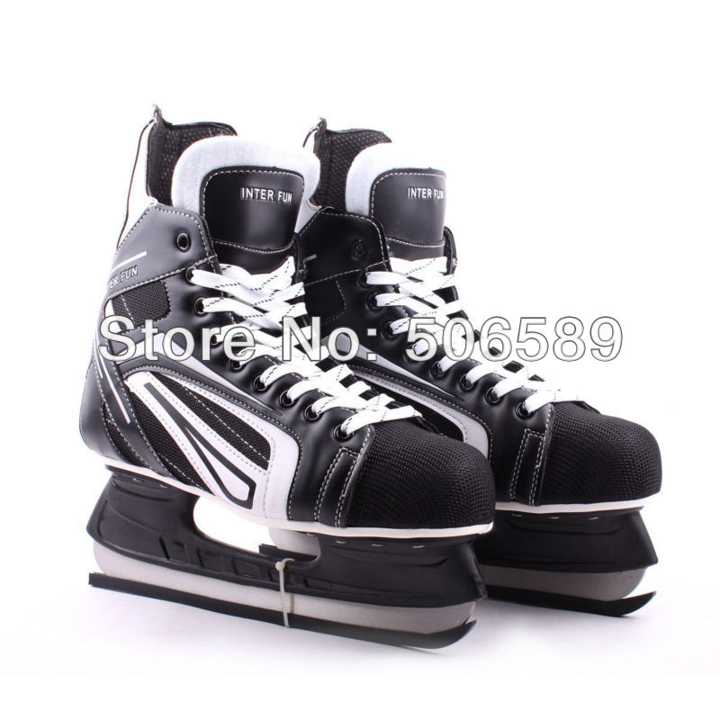 free shipping hockey skates black color 507 купить