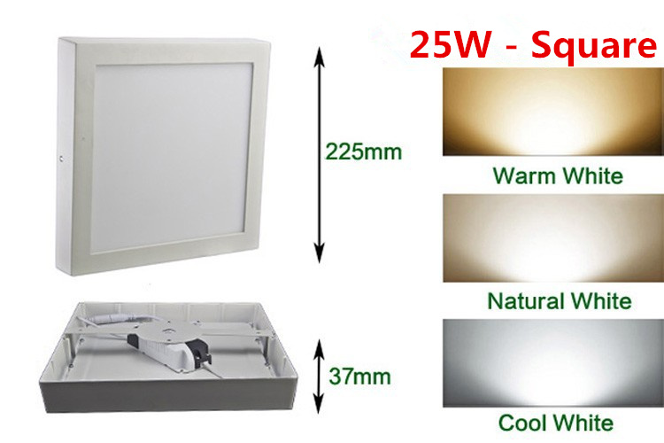 Lights & Lighting Free Shipping 9w/15w/25wround/square Led Panel Light Surface Mounted Downlight Lighting Led Ceiling Down Ac85-265v Driver Downlights