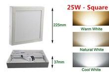 Envío gratis 9 W/15 W/25 1wround/Cuadrado Luz Del Panel Llevada Downlight de Superficie de iluminación Led techo abajo AC85-265V + Conductor