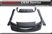 Car Styling Fiber Glass FRP Bodykits 4Pcs Fit For 2004 2008 Mazda RX8 Rmagic Style Body Kit Front Bumper Rear Bumper Side Skirts