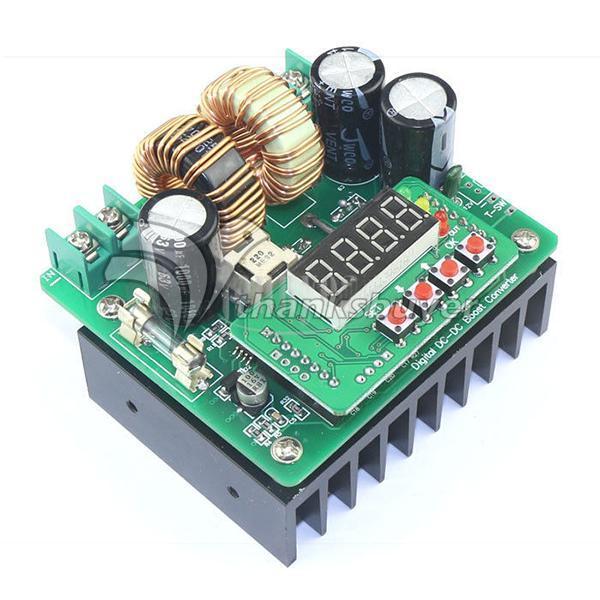 CNC Digital LED Display Battery Charger 400W DC-DC 6-40V to 8v-80v 10A Boost Converter