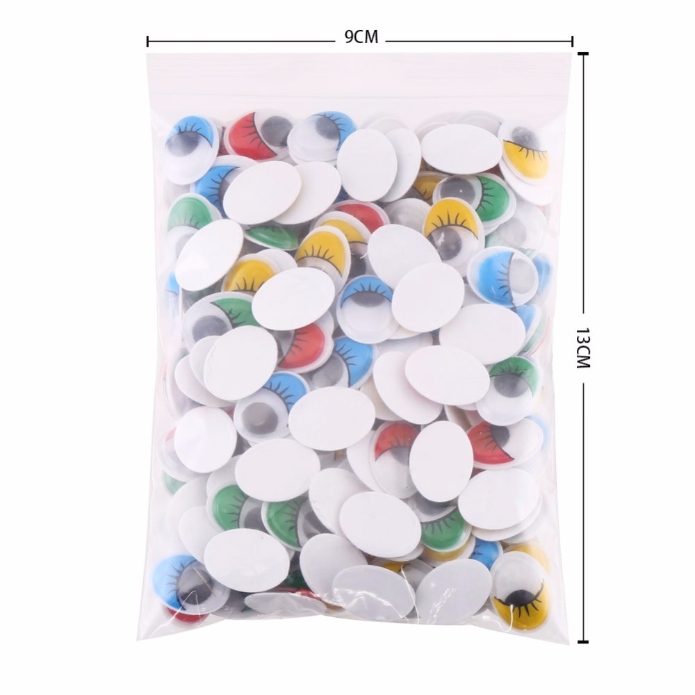 With Self-adhesive 200PCS//lot 10mmx8mm Oval Dolls Eye Googly Safety Eye For toy