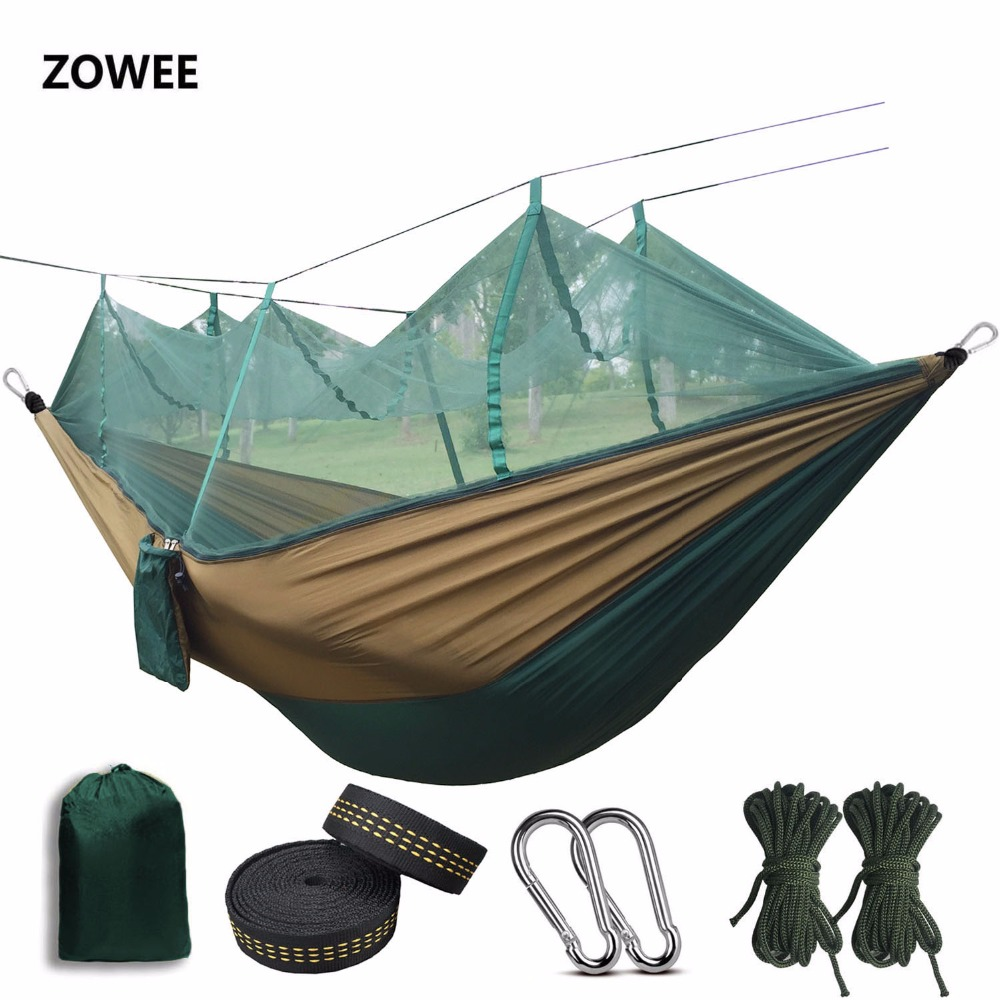 Portable Mosquito Net Hammock Single-person Folded Into The Pouch Mosquito Net Hammock Hanging Bed For Travel Kits Camping