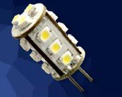 LED G4 light;15pcs 3528 SMD LED;1.2W;DC12V input;warm white color