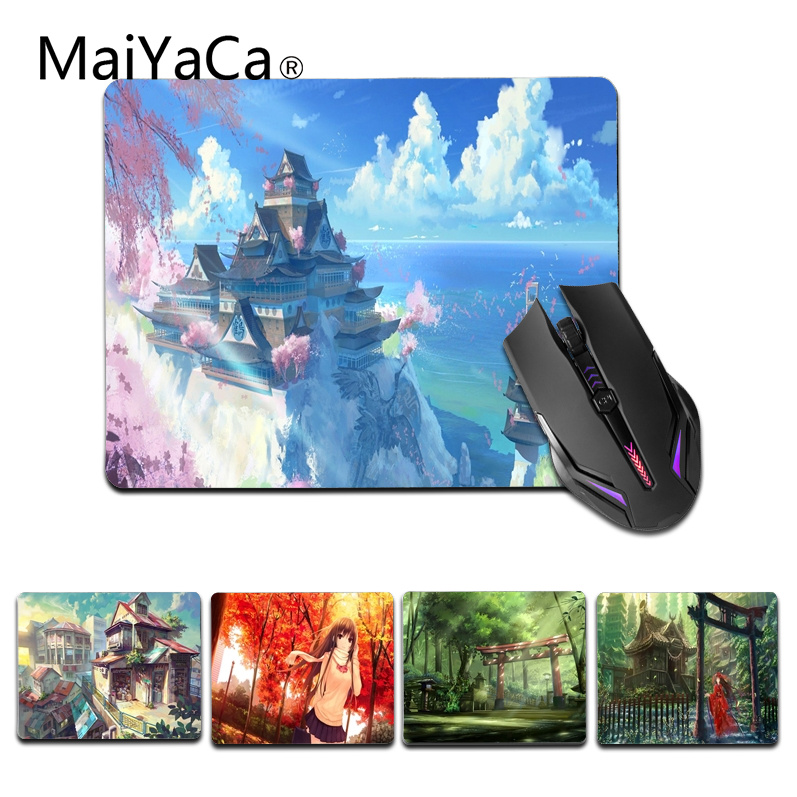 MaiYaCa Simple Design Japan Scenery Customized laptop Gaming small mouse pad Size for 25X29cm Silicon Mousemats