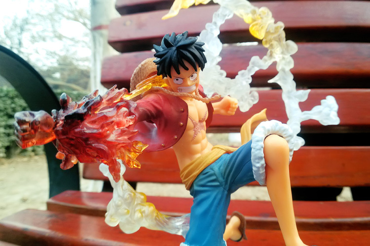 ФОТО Anime One Piece Monkey D Luffy Gomu Gomu no Red Hawk Fighting Version PVC Action Figure Doll Toys