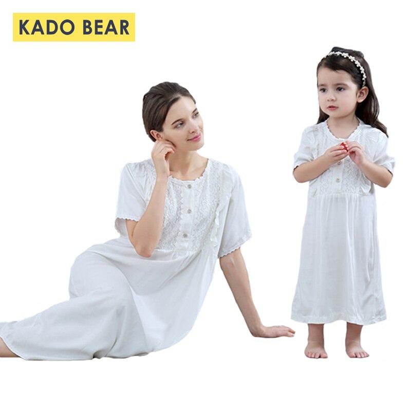 0c64dcb48 Vestido de noche para niñas con aspecto familiar pijama a juego mamá y yo  ropa madre hija vestidos ...