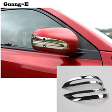 For Suzuki Vitara 2016 2017 Car styling cover body ABS chrome back rear view Rearview Side Mirror sticks trim frame lamp 2pcs